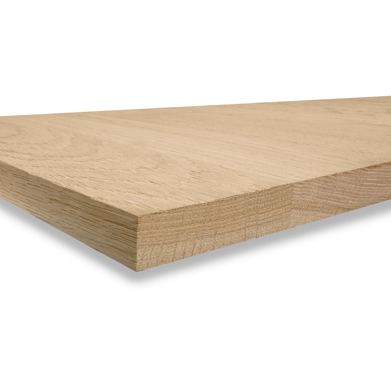 Eiken blad foutvrij 3 cm dik gezandstraald - OP MAAT - Meubelblad / paneel 8-12% kd A-kwaliteit Europees eikenhout