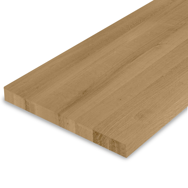 Eiken blad foutvrij 4 cm dik geborsteld en gerookt (1 plank) OP MAAT - Meubelblad / paneel 8-12% kd A-kwaliteit Europees eikenhout