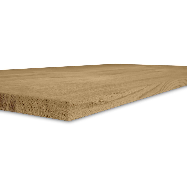 Eiken blad rustiek 3 cm dik - Geborsteld en gerookt - OP MAAT - Meubelblad / paneel 8-12% kd Europees eikenhout