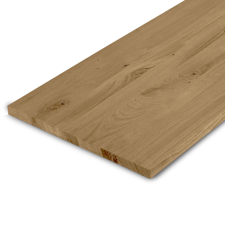 Eiken blad rustiek 2 cm dik - Geborsteld en gerookt - OP MAAT - Meubelblad / paneel 8-12% kd Europees eikenhout