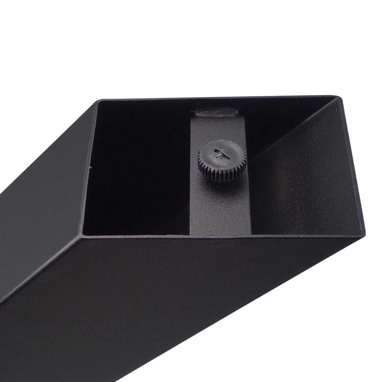 Stalen kruispoot - SET (2 stuks)  10x10 cm - 72 cm hoog - 78 cm breed - X-tafelpoot staal ge(poeder)coat (fijnstructuur) - zwart - antraciet - wit