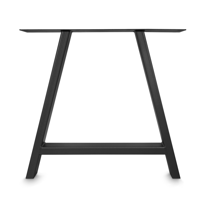 Stalen U-poot SET (2 stuks)  10x4 cm - 72 cm hoog - 78 cm breed - A-tafelpoot staal ge(poeder)coat (fijnstructuur) - zwart - antraciet - wit