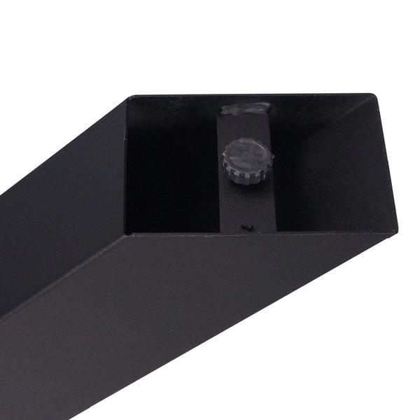 Stalen matrix 3D tafelpoot 10x10 cm - 72 cm hoog - 140x85 cm - incl. coating