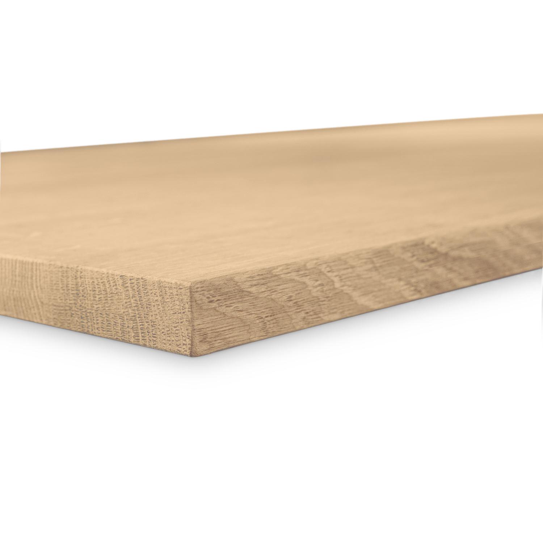 Eiken tafelblad foutvrij 3 cm dik geborsteld OP MAAT - 8-12% kd A-kwaliteit (op)geborsteld Europees eikenhout
