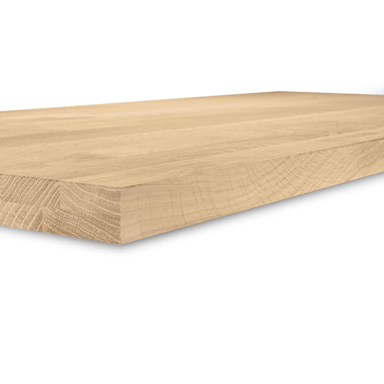 Eiken tafelblad foutvrij 4 cm dik (2-laags) OP MAAT - 8-12% kd A-kwaliteit Europees eikenhout