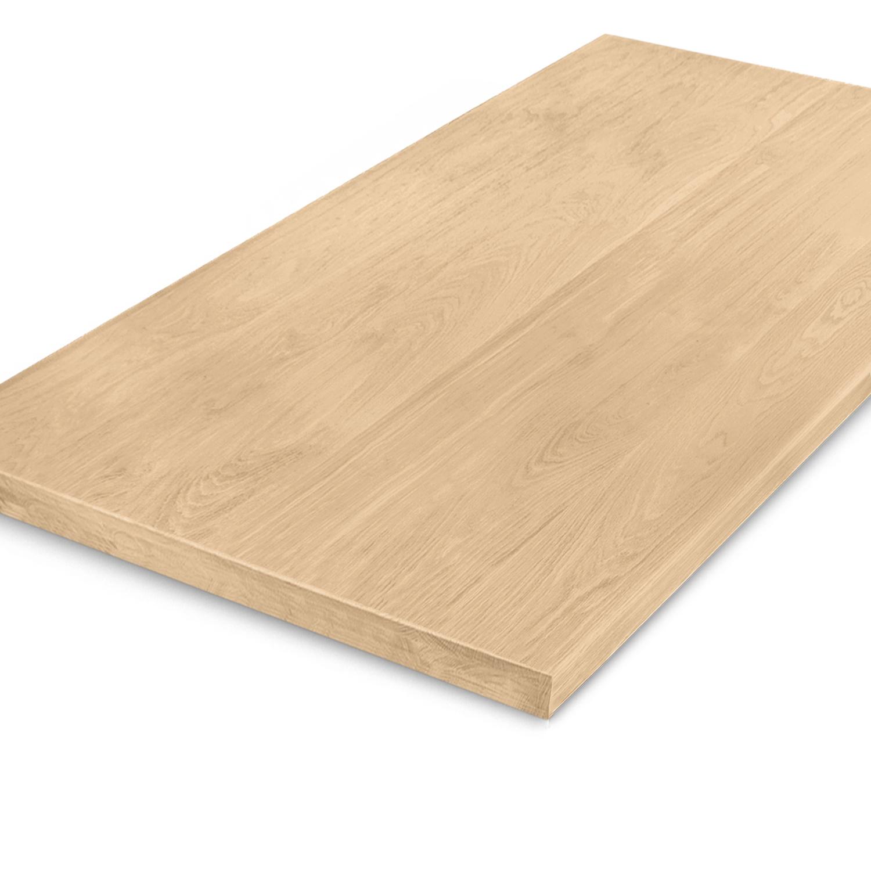 Eiken tafelblad foutvrij 6 cm dik (3-laags) - Geborsteld OP MAAT - 8-12% kd A-kwaliteit (op)geborsteld Europees eikenhout