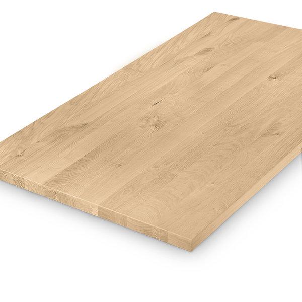 Eiken tafelblad rustiek 4 cm dik geborsteld - 1 plank -OP MAAT