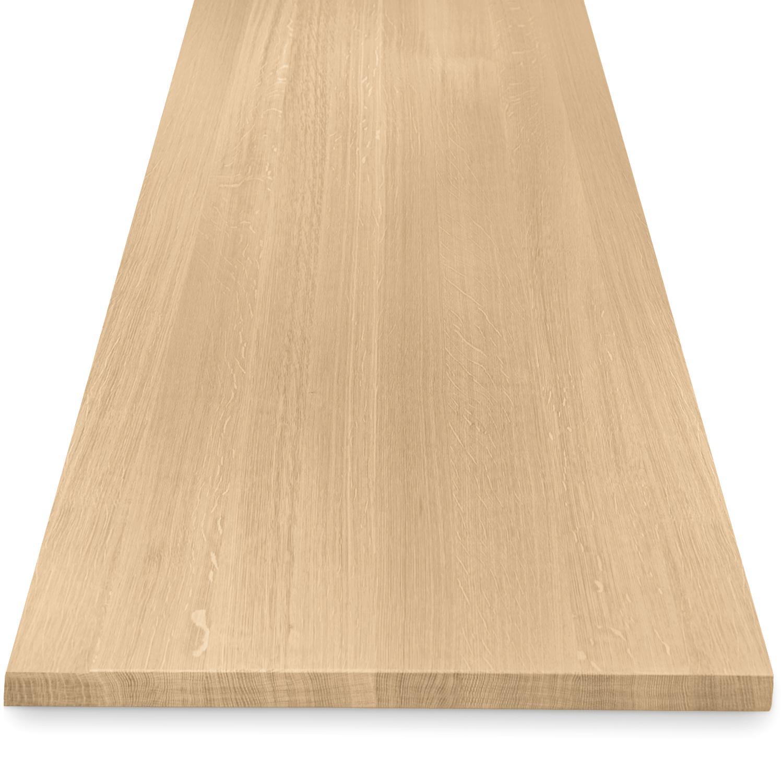 Eiken tafelblad foutvrij 4 cm dik (1 plank) OP MAAT - 8-12% kd A-kwaliteit Europees eikenhout