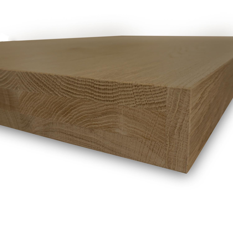Eiken tafelblad foutvrij 6 cm dik (3-laags) - Geborsteld en Gerookt - OP MAAT - 8-12% kd A-kwaliteit Europees eikenhout (verouderd)