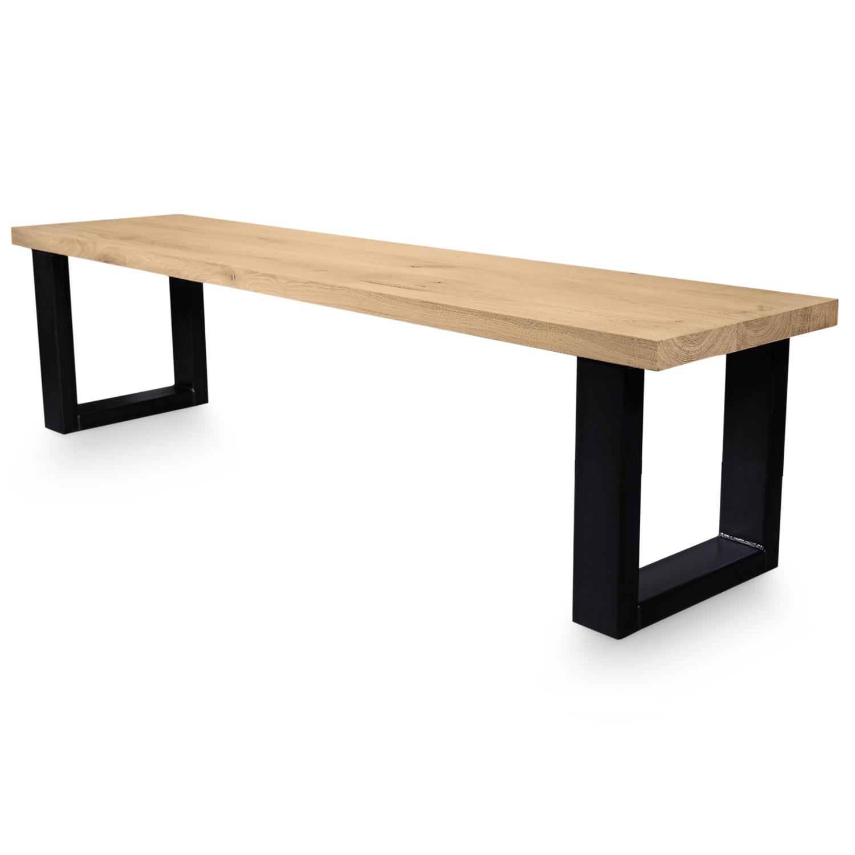 Stalen U-poot MINI bankje - SET (2 stuks)  8x4 cm - 42 cm hoog - 36 cm breed - U bankpoot staal (gepoeder)coat (fijnstructuur) - zwart - antraciet - wit