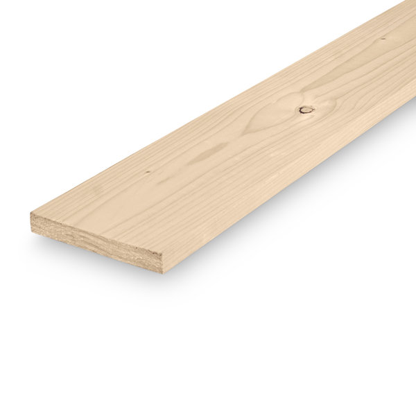 Vuren plank 22x125mm geschaafd