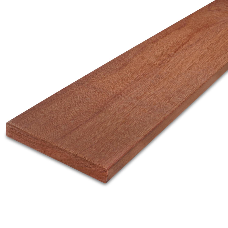 Massaranduba plank - 21x145mm - geschaafd - tropisch hardhout - ad (aangedroogd)