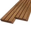 Thermowood fraké Deens rabat blokprofiel 21x135mm  (werkend: 125mm) - geschaafd - kunstmatig gedroogd (kd 8-12%) - thermisch gemodificeerd fraké hout (thermohout)