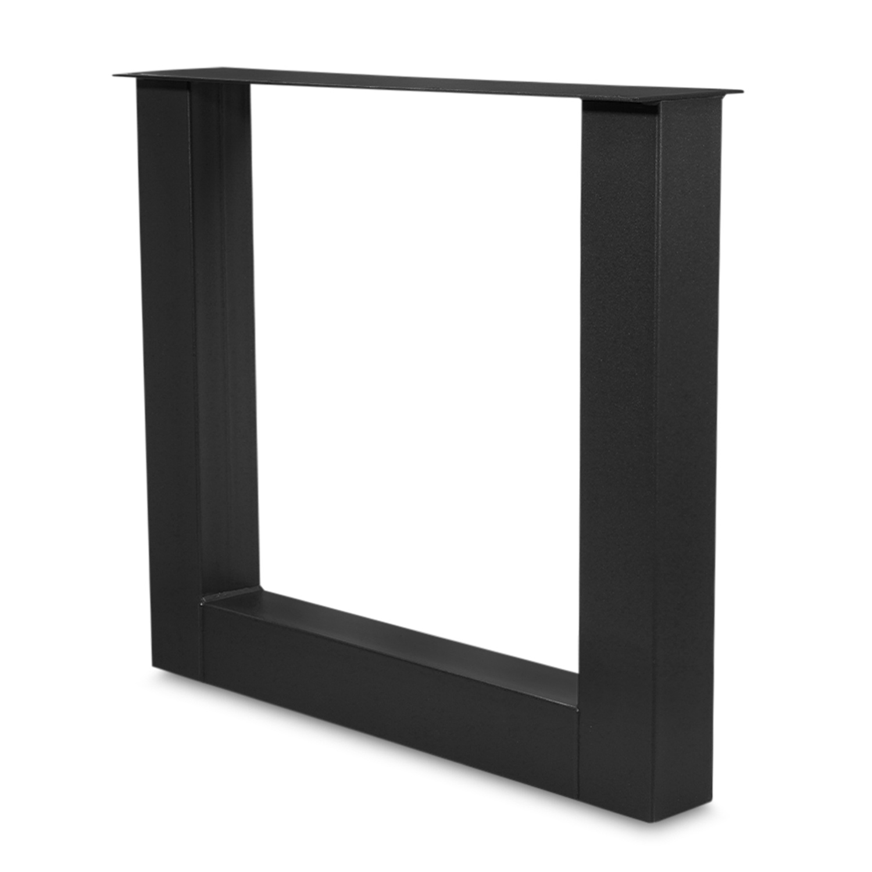 Stalen U-poot SET (2 stuks)  10x10 cm - 72 cm hoog - 78 cm breed - H tafelpoot staal ge(poeder)coat (fijnstructuur) - zwart - antraciet - wit