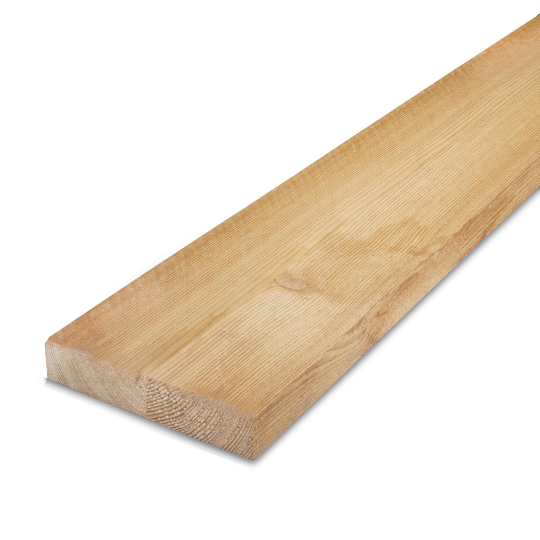 Siberisch lariks plank 25x100mm - ruw (fijnbezaagd) - kunstmatig gedroogd (kd 18-20%)