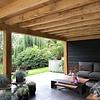 Oude eiken balk 190x190mm - Kanten (af)geschaafd - rustiek eiken - aangedroogd (AD) 20-25 % eikenhout - voor buiten