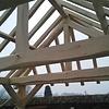 Oude eiken balk 90x90mm - Kanten (af)geschaafd - rustiek eiken - aangedroogd (AD) 20-25 % eikenhout - voor buiten