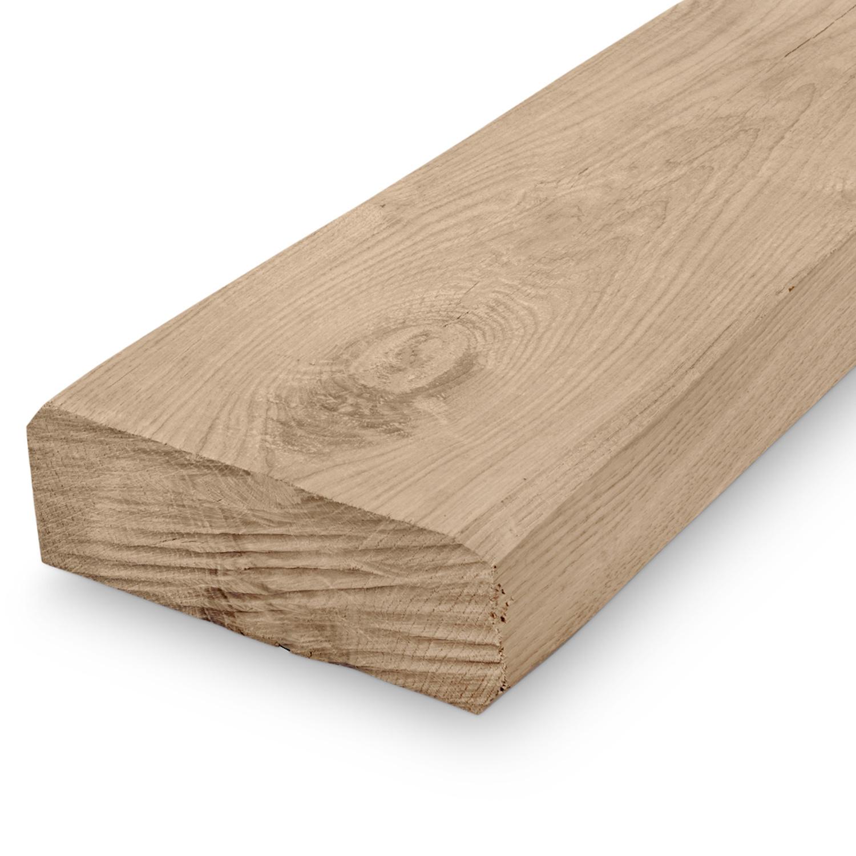 Oude eiken balk 70x140mm - Kanten (af)geschaafd - rustiek eiken - aangedroogd (AD) 20-25 % eikenhout - voor buiten