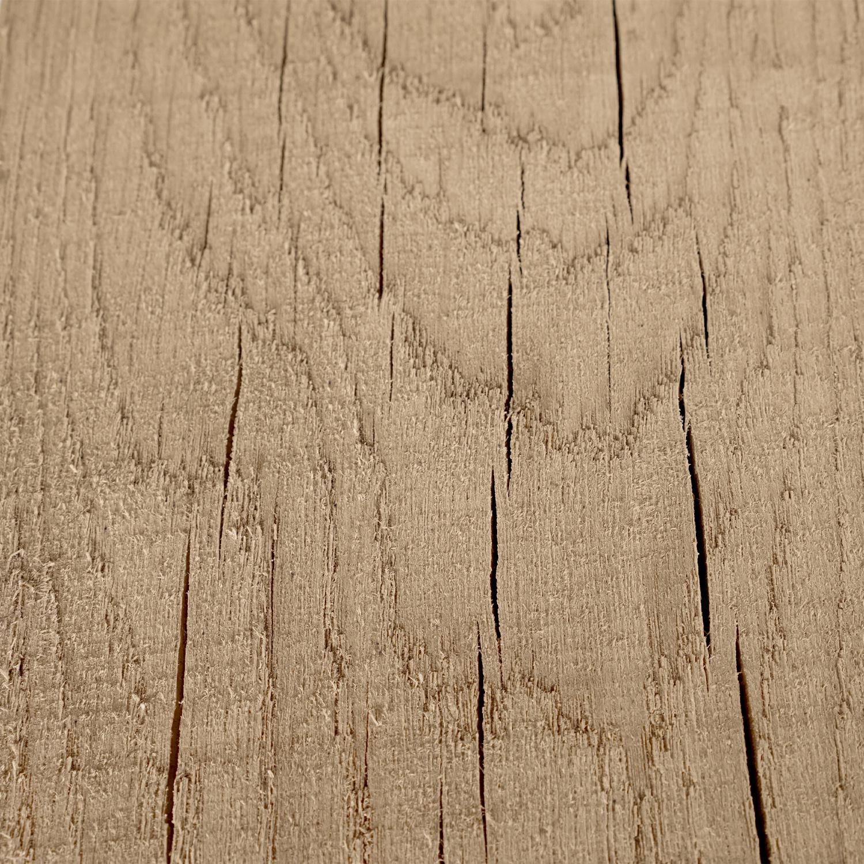 Eiken balk 46x215mm - Fijnbezaagd (ruw) en kunstmatig gedroogd Eikenhout