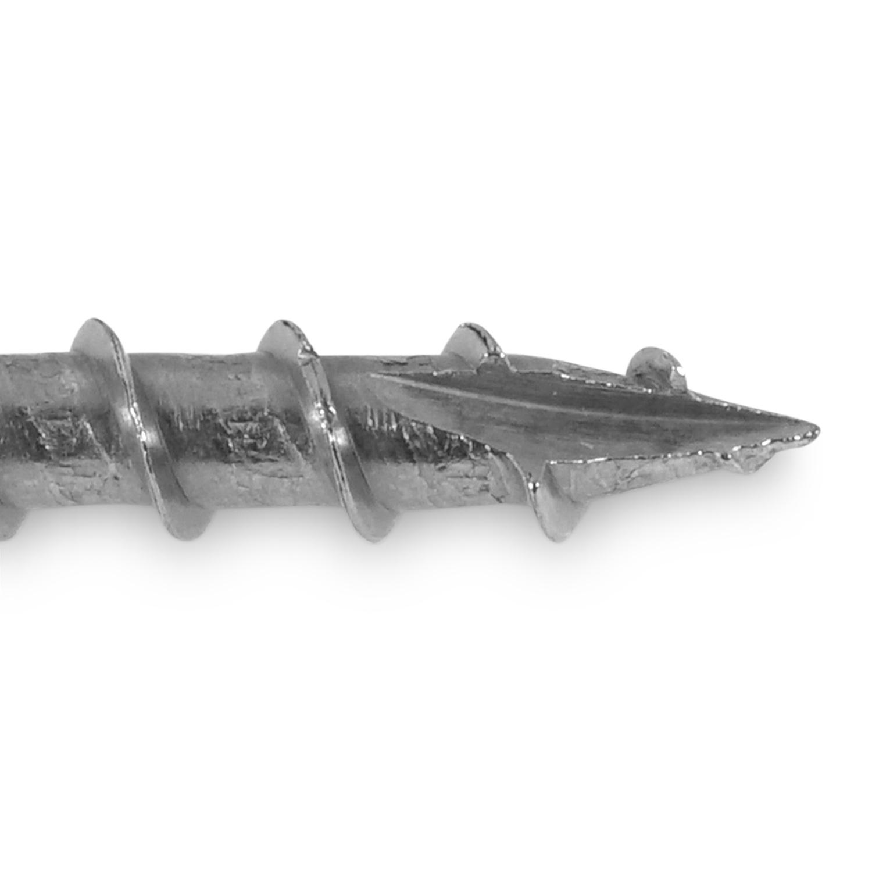 Universele houtschroeven RVS - 6 mm - gehard RVS - torx 30 - schroeven voor hardhout en tuinhout - grove spoed - met snijpunt - 100 stuks - diverse lengtes