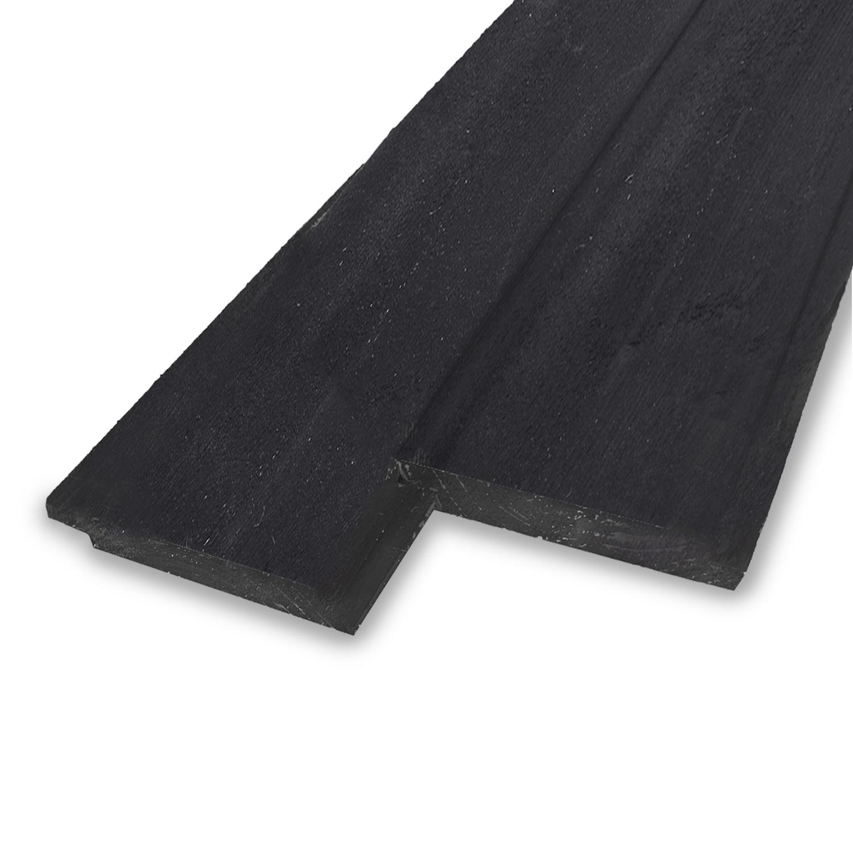 Zwart vuren sponningdeel 2-zijdig 18x170mm - ZWART - geschaafd - Zweeds naaldhout - kunstmatig gedroogd (kd 18-20%)