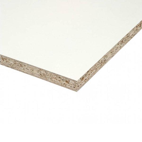 Spaanplaat wit gemelamineerd P1 - 10 mm - 250x125 cm - wit geplastificeerd