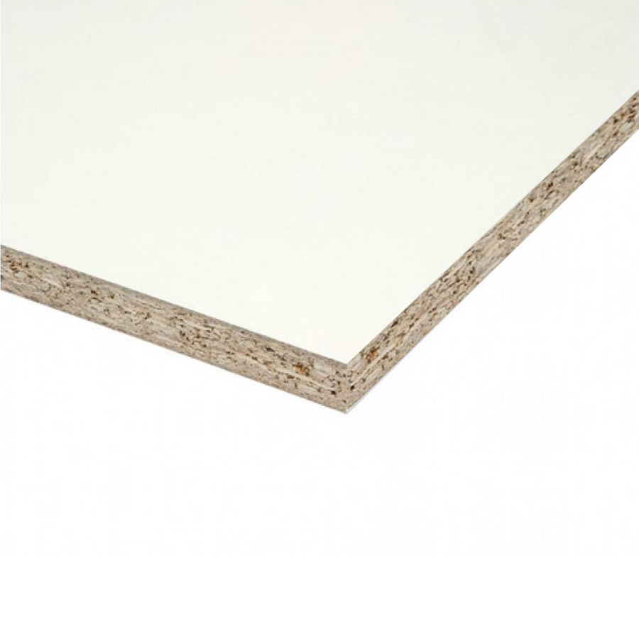 Spaanplaat wit gemelamineerd P1 - 18 mm - 305x125 cm - wit geplastificeerd