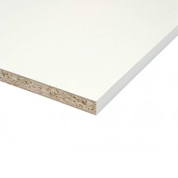 Spaanplaat wit gemelamineerd - 18 mm - 305x80 cm - meubelpaneel wit geplastificeerd