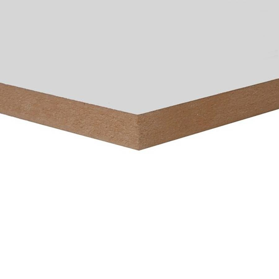 MDF lakdraagfolie - 18 mm - 244x122 cm - Witte MDF plaat met tweezijdige lakfolie - overschilderbaar - CE-keurmerk - PEFC Mix