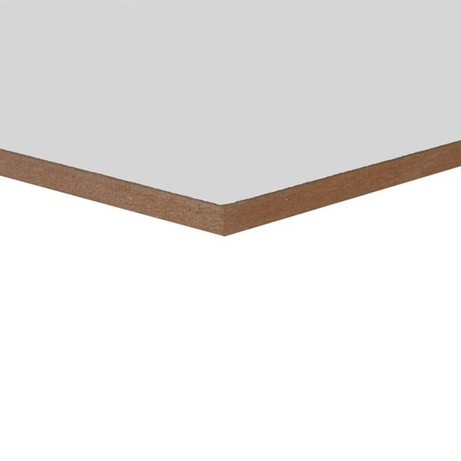 MDF lakdraagfolie - 12 mm - 244x122 cm - Witte MDF plaat met tweezijdige lakfolie - overschilderbaar - CE-keurmerk - PEFC Mix