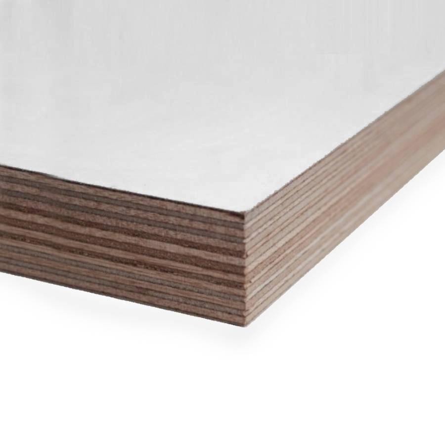 Okoume aluminium multiplex wit gegrond - 40 mm - 215x95 cm - 2-zijdig wit gegrond aluplex - FSC 70%