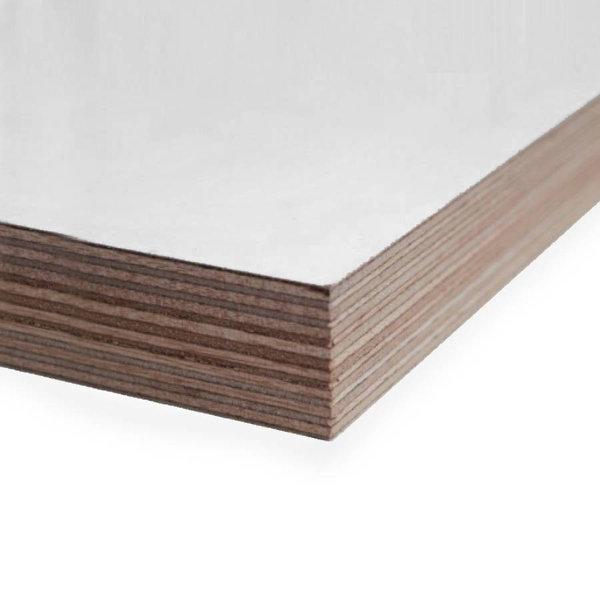 Okoume aluminium multiplex wit gegrond - 40 mm - 250x122 cm - deurmaat