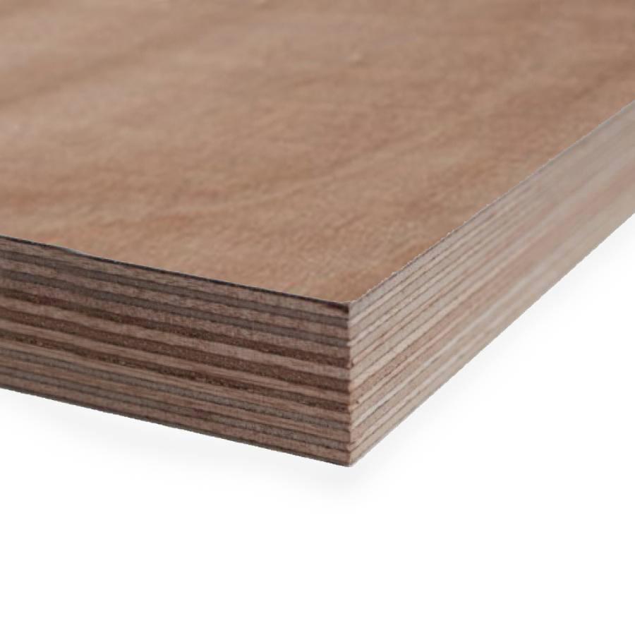 Okoume aluminium multiplex - 40 mm - 250x122 cm - aluplex freesbaar - FSC 70%