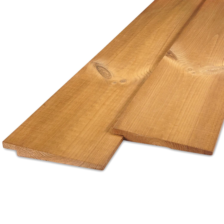 Thermowood grenen Zweeds rabat 8-22x170mm - zichtzijde fijnbezaagd (ruw) - kunstmatig gedroogd (kd 8-12%) - thermisch gemodificeerd grenen hout (thermohout)