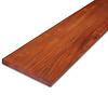 Padouk hardhouten plank 21x190mm - geschaafd padoek - tropisch hardhout - ad (aangedroogd)