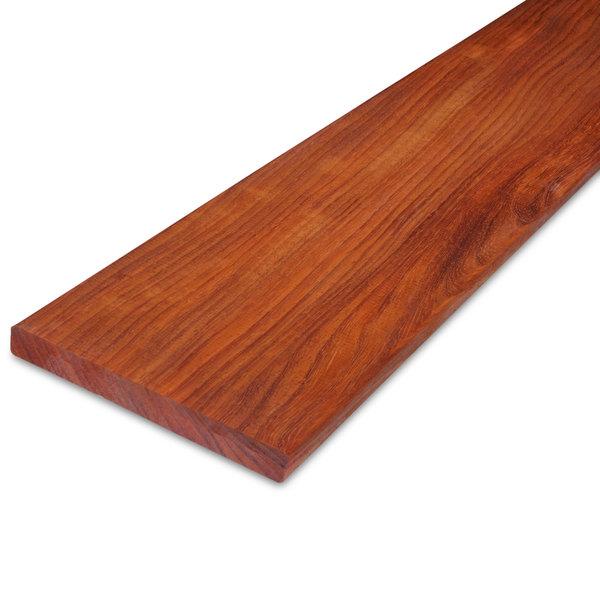 Padouk hardhouten plank 21x190mm - tropisch hardhout - geschaafd ad