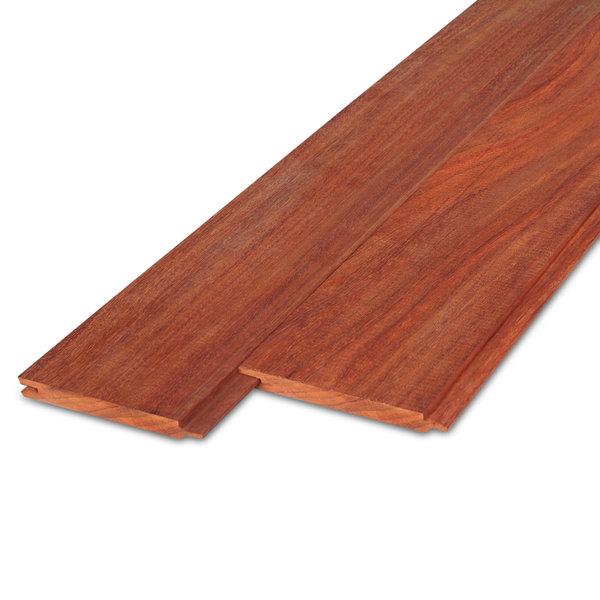 Padouk vellingdeel -  T&G rabat - 21x135mm - tropisch hardhout - geschaafd ad