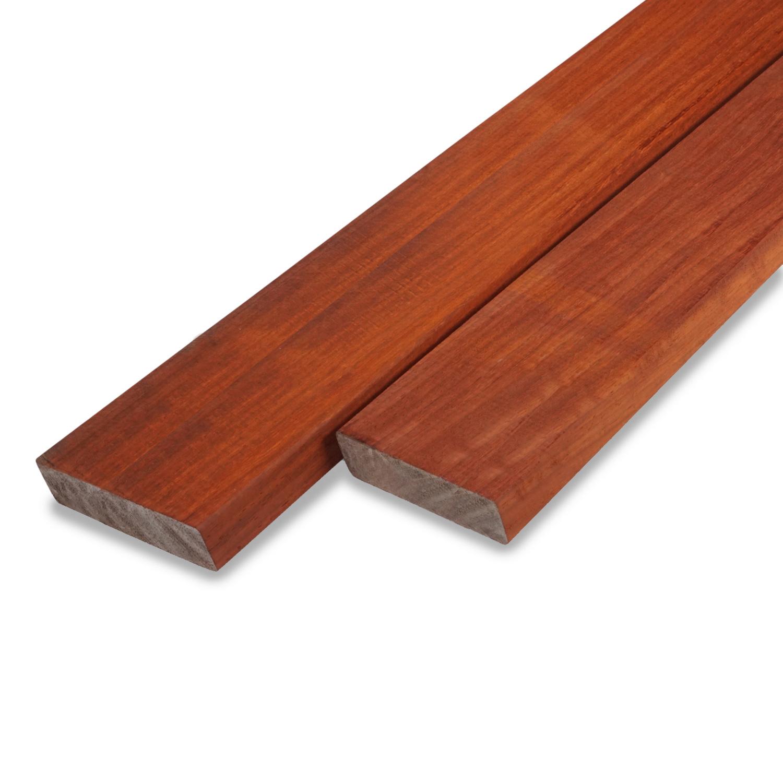 Padouk rhombus deel - profiel - plank 21x120mm geschaafd - ad (aangedroogd) - tropisch hardhout