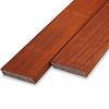 Padouk rhombus deel - profiel - plank 21x143mm geschaafd - ad (aangedroogd) - tropisch hardhout