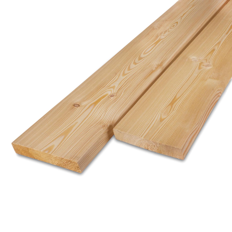 Siberisch lariks rhombus deel - profiel - plank 21x115mm -  Geschaafd en gedroogd  (kd 18-20%)