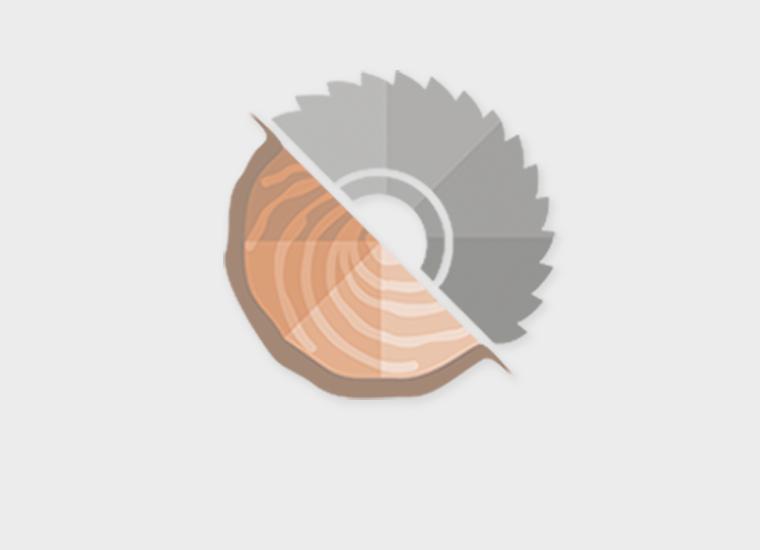 Lariks sponningdeel 2-zijdig