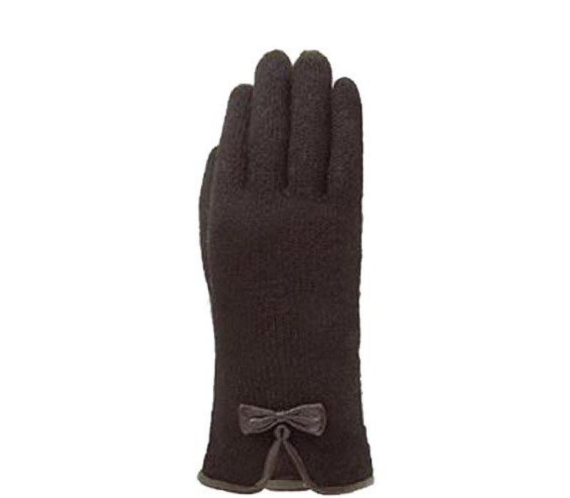 Klassische Damen Wollhandschuhe mit Schleife Modell Kiel