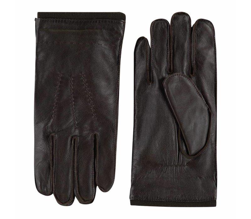 Stoere leren handschoenen heren model Perugia