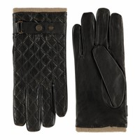 Leather men's gloves model Blacos