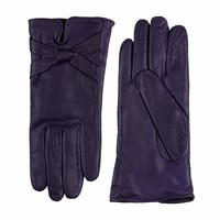 Leren handschoenen dames met strik model Bardolino