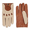 Laimböck Leather men's driving gloves with crochet upperhand model Chicago