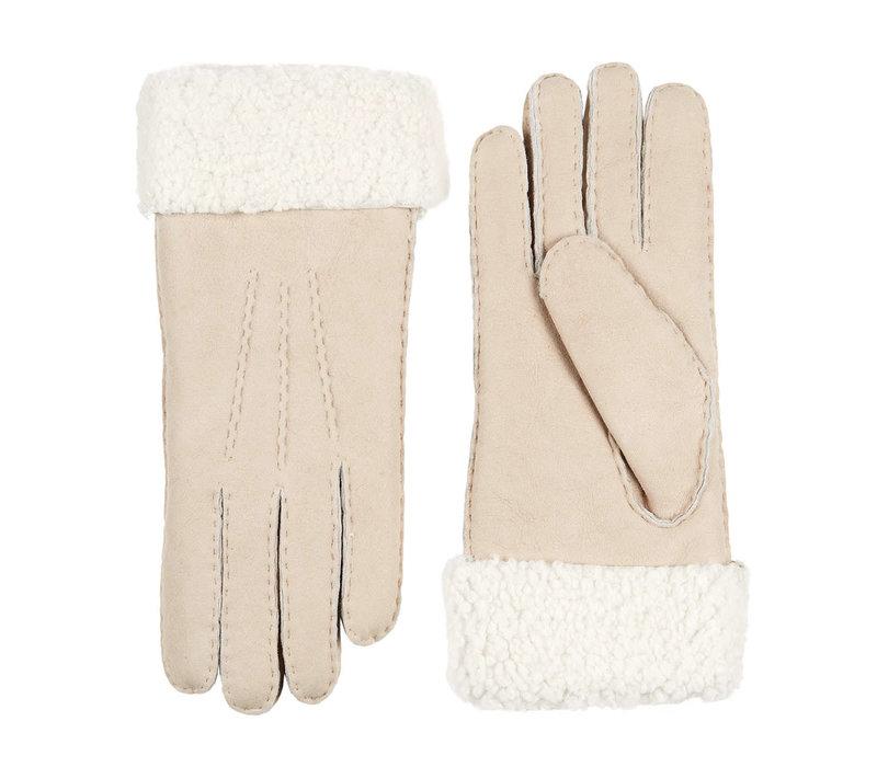 Lammy dames handschoenen met omgeslagen boord model Helsinki
