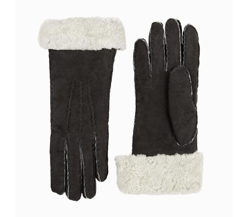 Lammpelz Damenhandschuhe mit umgeschlagen Bund Modell Helsinki