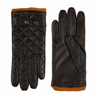 Sporty leather ladies gloves model Infesta