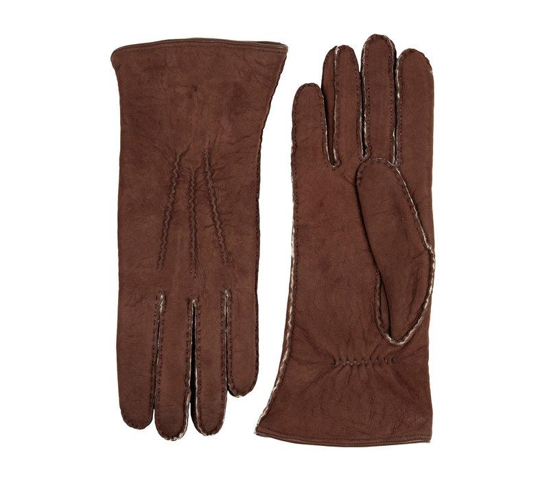 Texelse curly lammy dames handschoenen model Molde